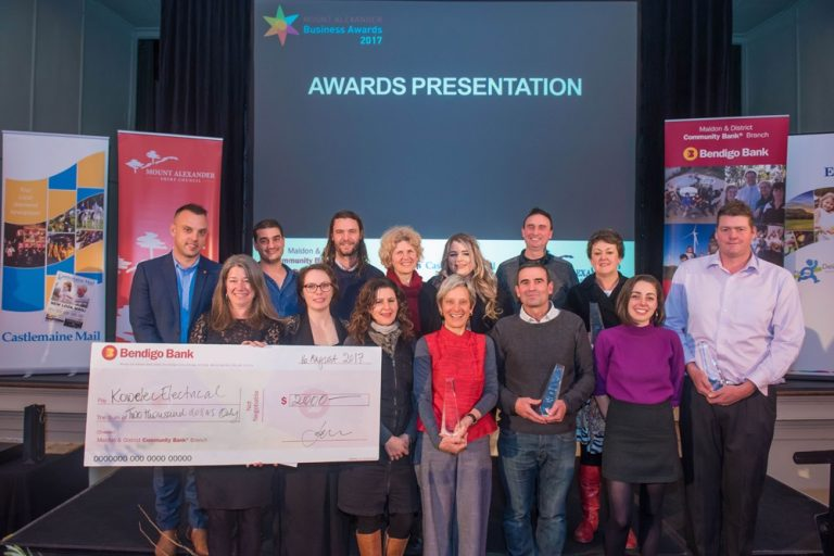 Congratulations to all the winners for the 2017 Mount Alexander Business Awards!(Photo source: Brendan McCarthy)